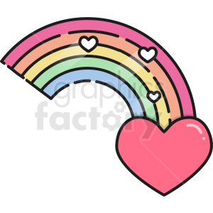 heart rainbow vector icon clipart. Commercial use image # 411787