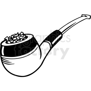 black and white cartoon smoking pipe vector clipart clipart. Royalty-free image # 411818