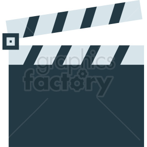clapperboard icon design clipart. Royalty-free image # 411832