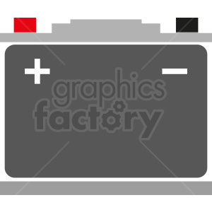 car battery vector icon clipart. Royalty-free image # 411882