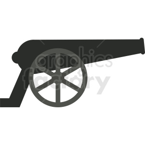 cannon vector clipart clipart. Royalty-free image # 411902