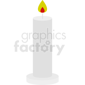 vector candle icon design clipart. Royalty-free image # 411942