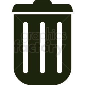 trash can icon clipart. Royalty-free image # 412004
