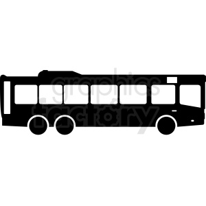 bus silhouette clipart