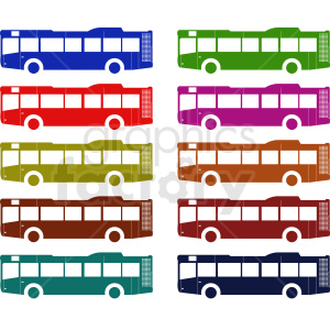 bus set vector clipart clipart. Royalty-free image # 412035