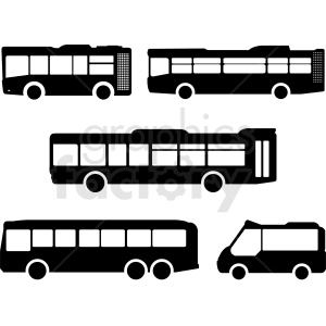 public transportation clipart set clipart. Commercial use image # 412055