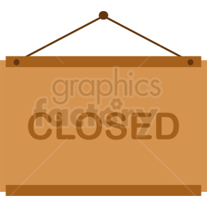 closed sign vector clipart clipart. Commercial use image # 412072