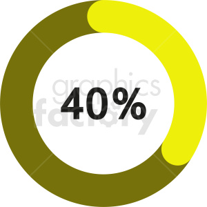 40 percent bar graph vector clipart. Commercial use image # 412085
