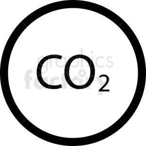 co2 symbol vector clipart clipart. Commercial use image # 412098