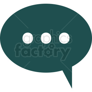 chat icon vector clipart. Royalty-free image # 412110