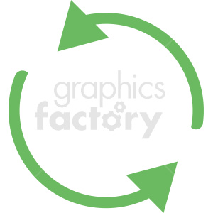 green recycle vector icon clipart. Commercial use image # 412112