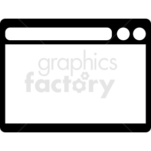 browser window vector clipart clipart. Commercial use image # 412113