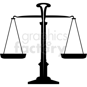 scales of justice clipart. Commercial use image # 412133