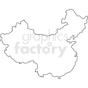 China vector outline clipart. Commercial use image # 412167