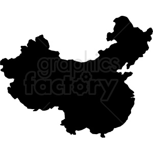 China vector silhouette clipart. Commercial use image # 412184