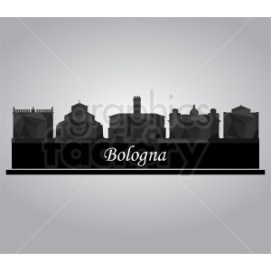 Bologna Italy city vector clipart clipart. Commercial use image # 412192