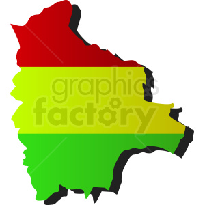 Bolivia country flag design clipart. Commercial use image # 412194