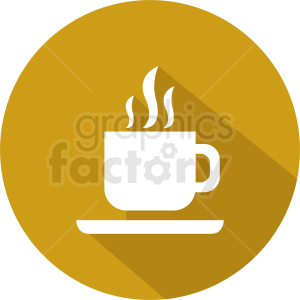 steaming coffee cup vector icon clipart. Commercial use image # 412259