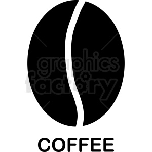 coffee bean vector template clipart. Commercial use image # 412276