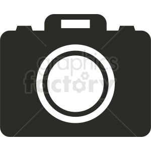 black and white camera icon clipart. Royalty-free image # 412302
