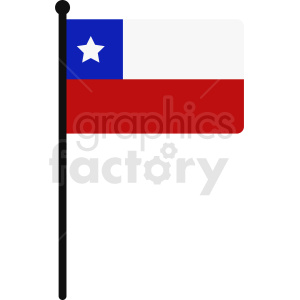 Chile flag icon art clipart. Commercial use image # 412359