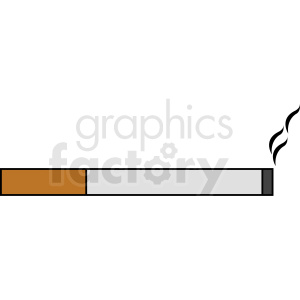 cartoon cigarette smoking art clipart. Commercial use image # 412369
