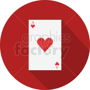 Ace of hearts card vector icon clipart. Royalty-free image # 412378