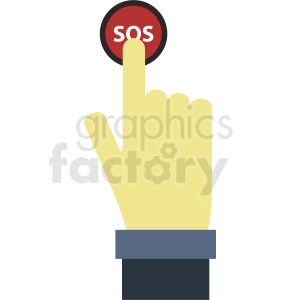 hand pushing sos button clipart. Royalty-free image # 412389