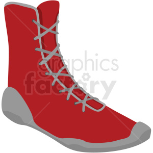 red boxing shoes vector clipart clipart. Royalty-free image # 412499