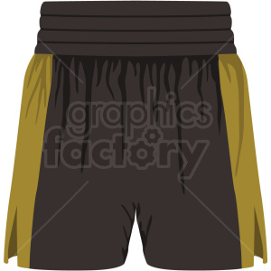 black and yellow boxing shorts vector clipart clipart. Royalty-free image # 412500