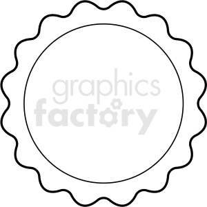 scalloped circle badge vector clipart design clipart. Commercial use image # 412557