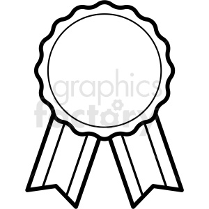 blank ribbon template design vector clipart. Commercial use image # 412567
