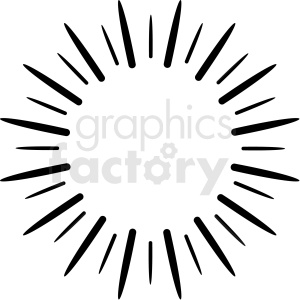 star bursting vector asset clipart. Royalty-free image # 412568