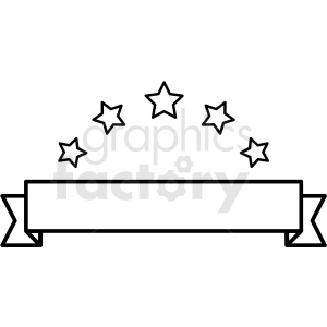 blank ribbon with stars template design vector clipart. Commercial use image # 412577