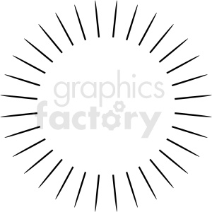 large burst vector clipart design