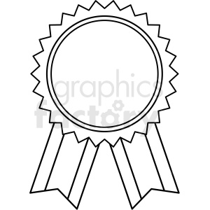 blank award ribbon template design vector clipart. Commercial use image # 412585