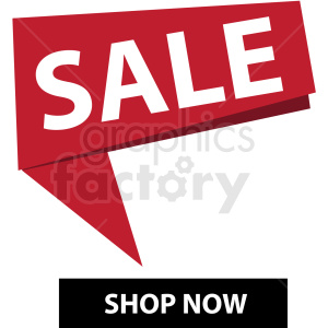 sale shop now notification banner icon vector clipart clipart. Commercial use image # 412687