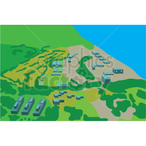 coastal aerial scene vector clipart clipart. Commercial use image # 412698