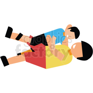 dad play wrestling with son vector clipart clipart. Royalty-free image # 412736