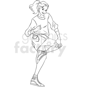 90s teenager girl vector clipart