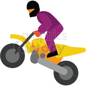 motocross vector clipart icon clipart. Commercial use image # 412951