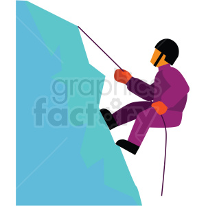 mountain climber vector clipart icon clipart. Royalty-free image # 412954
