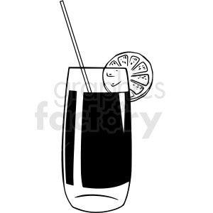 black and white beverage with straw vector clipart clipart. Royalty-free image # 412985