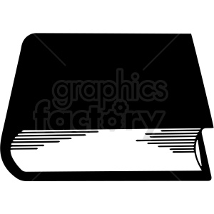 black and white book end vector clipart