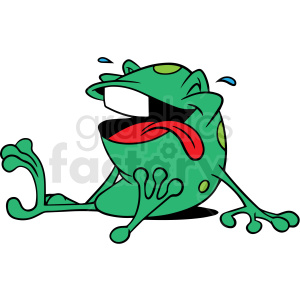 cartoon laughing frog vector clipart clipart. Royalty-free image # 413113