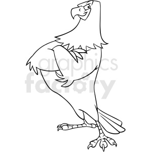 black and white cartoon eagle vector clipart clipart. Commercial use image # 413222