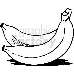 black and white banana vector clipart clipart. Royalty-free image # 413310