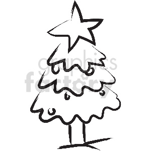 black and white tattoo christmas tree vector clipart clipart. Commercial use image # 413330