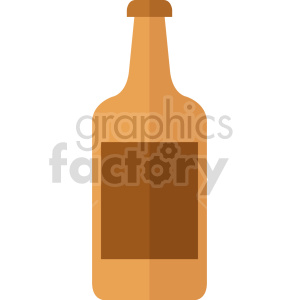 brown beer bottle vector clipart clipart. Commercial use image # 413413