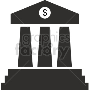bank pillars vector clipart 3 clipart. Commercial use image # 413479